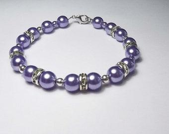 Lilac Bridesmaid Bracelet,Wedding Bridesmaid Jewelry,Bridal Party Gift, Lavender Jewelry, Bridesmaid Lavender Bracelet, Wedding jewelry