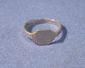 VICTORIAN small 10k Gold Engravable Ring Marked 10k No Monogram Now On SALE