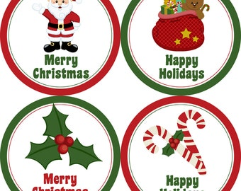 Christmas Stickers For Envelopes