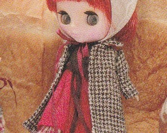 Petite Blythe Mini Pullip Dal 11cm Doll Coat, Dress and Headdress Set pdf Scaled E PATTERN in Japanese and Template Titles in English