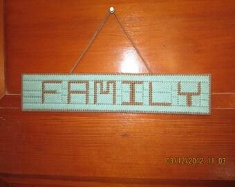 FAMILY - Banner/Sign