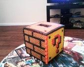 Mario Brothers 8-Bit Perler Coin Box