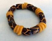 Vintage African Trade Beads Stretch Bracelet