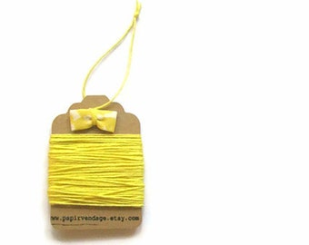 Bright Yellow Bakers Twine, Solid  Bakers Twine, 10yds, Fall Colors, Solid Bakers Twine,  Bakers Twine, Yellow Twine
