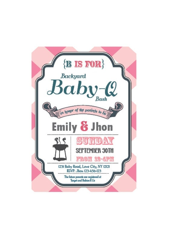 Bbq Baby Shower Invites is adorable invitations example