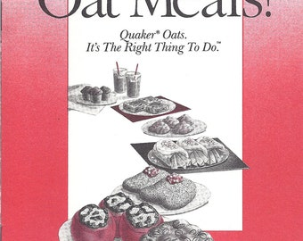 OAT MEALS Recipe Pamphlet from Quaker 1988
