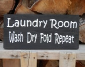 Laundry Room  wood sign (stock photo) made to order