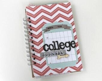 College Journal, Mini Album, Scrapbook, College Gift, Graduation Gift, Christmas Gift, Teen Gift, Christmas Gift for Friend, Friend Gift