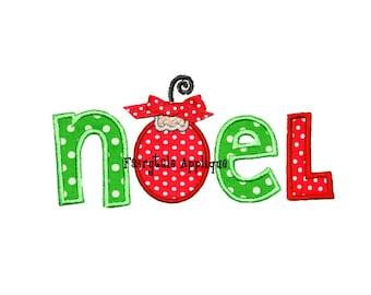 Digital Machine Embroidery Design - Noel Christmas Applique
