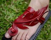 Handmade Leather Sandals Women and Men***Fire design***