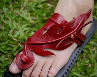 Handmade Leather Sandals Women and Men***Fire design***