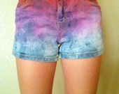 FREE SHIPPING PINK Ombre High Waisted Shorts size 1-2
