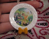 Little Bambi Plate Necklace
