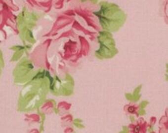 1/4m Barefoot Roses by Tanya Whelan - Pink Bouquet - Free Spirit Fabrics