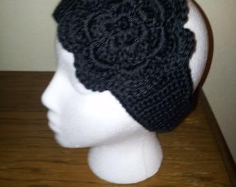 Crocheted Large Flower Head Warmer