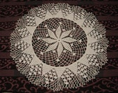 White table placemat centerpiece tablecloth large coaster handmade crochet