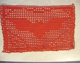 Bat table cover decoration placemat centerpiece crochet handmade