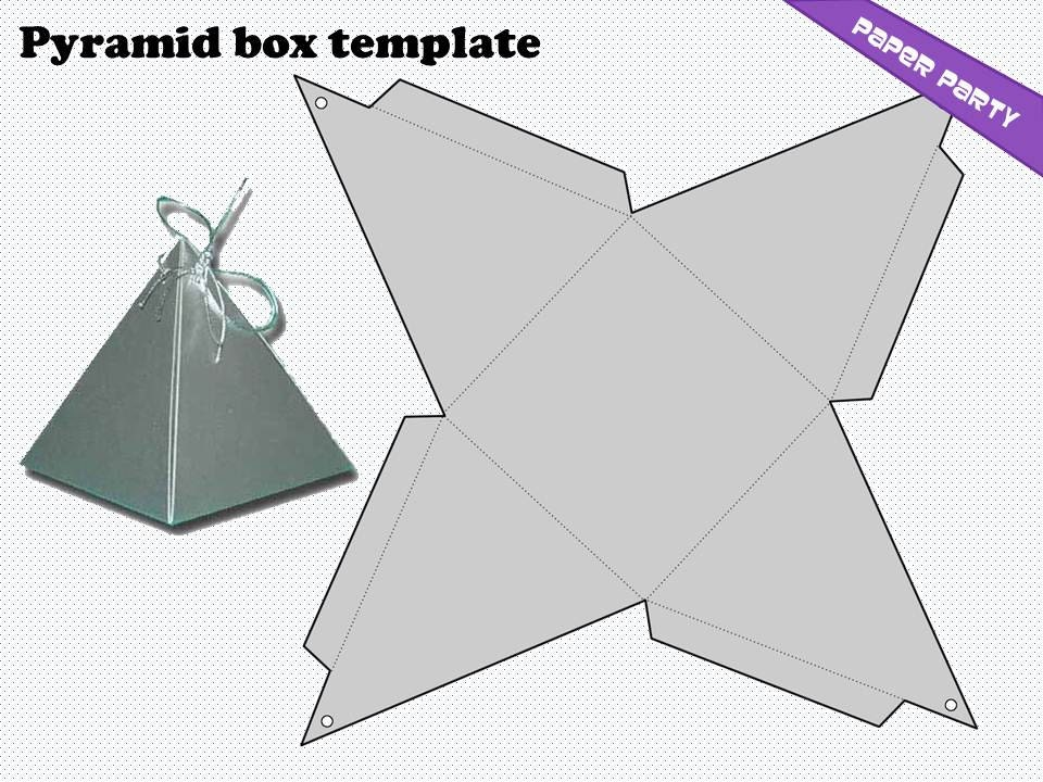 Pyramid Box Template  SkiroPkIProTk