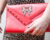 Red Hot Retro Spiked Clutch