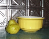 Vintage Kitchen Bowl, Sunny Yellow, Fruit Bowl, Serving Piece, Made in the USA