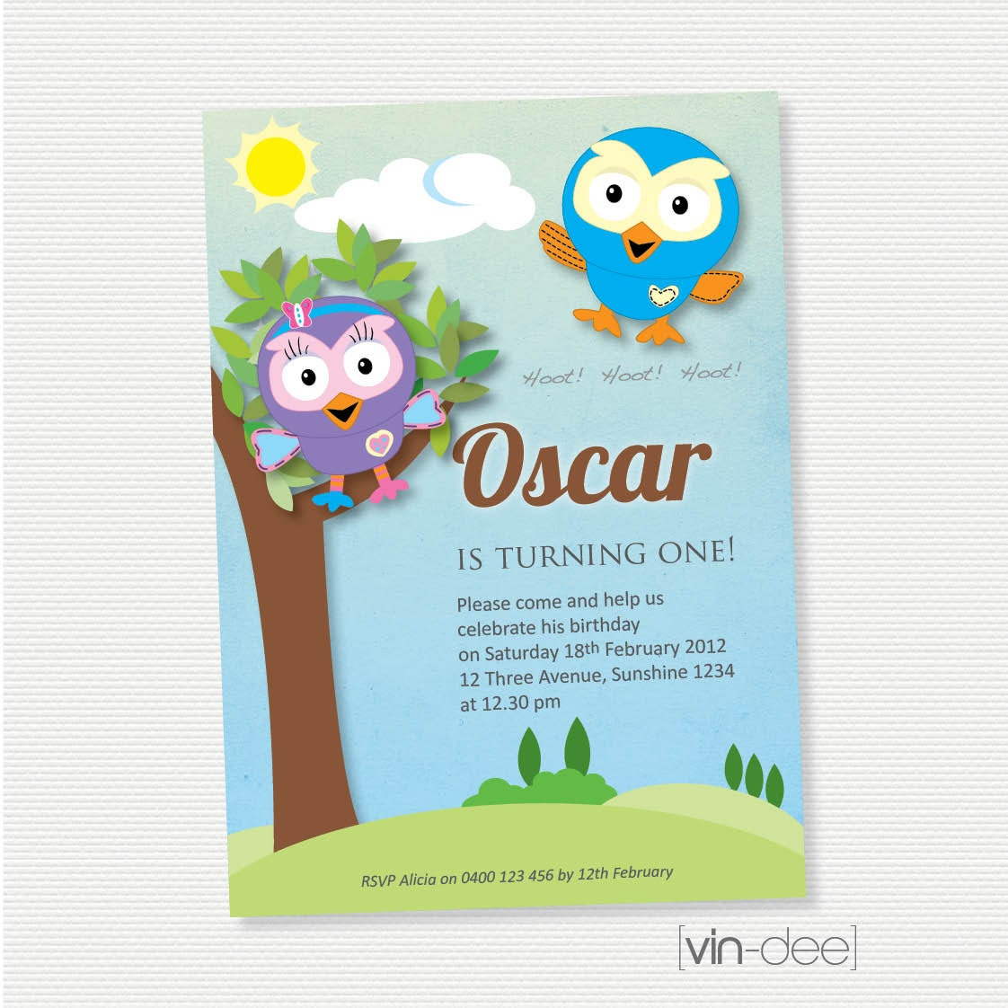 Airplane Birthday Invitation Diy Printable By Vindee On Etsy: Hoot And Hootabelle Birthday Invitation DIY Printable