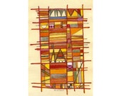 Life's Tapestry - modern art abstract painting original (not a print)