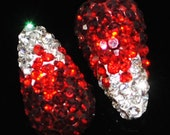 4 Half Hole Drop Pave Crystal Rhinestone Spacer Beads