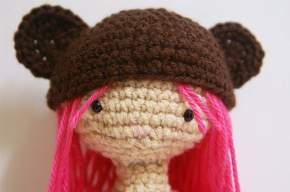 Crochet Cobie Bear Cub Pink Amigurumi Doll