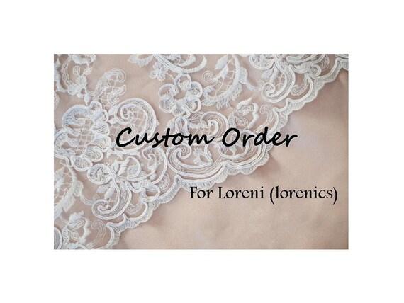 Wedding Cake Topper- Custom Order for Loreni (lorenics)