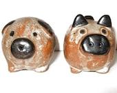 ceramic pig salt and pepper shakers