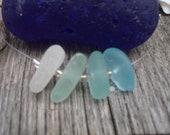 Shades of Aqua beach glass necklace