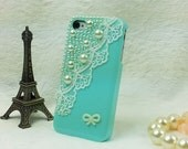 iphone 4 case -- pearl lace iphone 4 case,iphone 4s case in purple