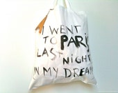 I went to Paris TOTE Bag / Eve Damon