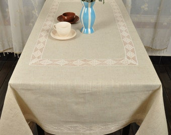 53x69  Inches,Lace  Linen Tablecloths  Oblong , NEW