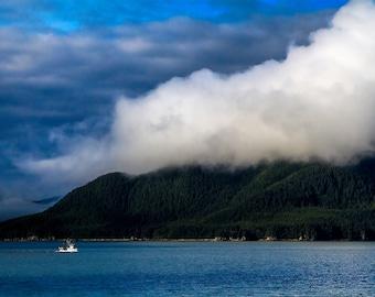 "Alaska Landscape Photography, 8x10 Photographic Print ""Alaska Fishing"", Coastal Photo Print, Travel Photograph"