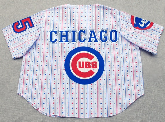 1980's Esleep Chicago Cubs Pajamas 2 Piece Set