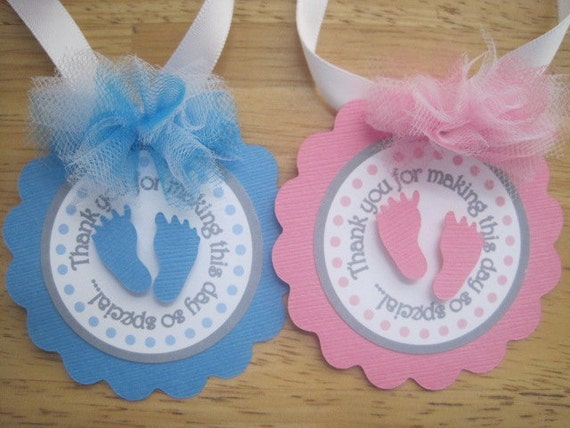 items similar to  baby shower favor tagsfavor bag tags, Baby shower invitation