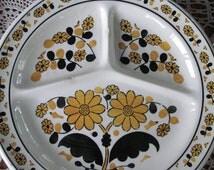 popular items for divided dinner plate on etsy. Black Bedroom Furniture Sets. Home Design Ideas