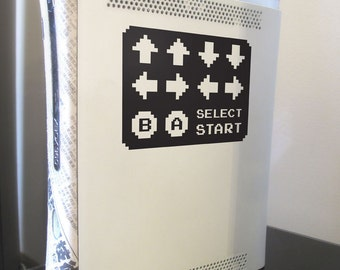 8-bit Konami Code vinyl decal