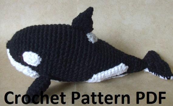 Yorkie Amigurumi Pattern Free : Orca Killer Whale Crochet Pattern by CraftFrogPatterns on Etsy