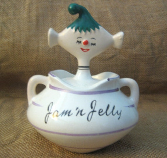 Spritely Vintage Jam and Jelly Pixieware Jar