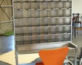 Vintage 1950's Metal Industrial Desk/Workstation