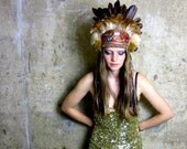 Through the Woods - Autumnal Feather Crown - Headdress