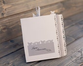 Innovative Chic Handmade Birthday Card Grey, with mini album 5 pictures