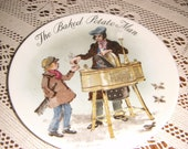 """Vintage Wedgwood Collectors Plate The Baked Potato Man"""" Limited Edition English bone China SALE ITEM"""