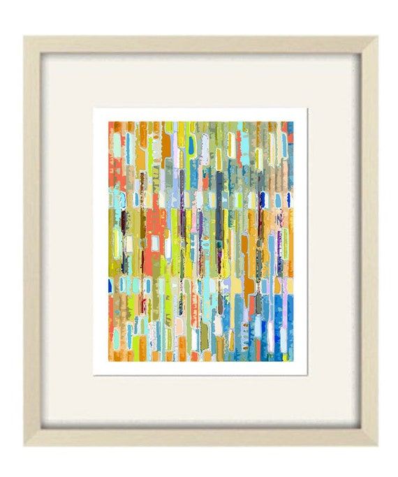 Bathroom Art Orange: Abstract Art Children's Art Orange Bathroom Art By