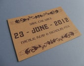 DIY Modern Celtic Rustic Save the Date Card - Print at Home