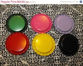 20% Off Sale 25 Piece Mixed Flat Scratched Colored Bottle Caps lot 28