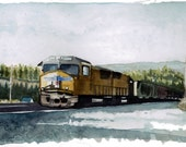 Truckee Train Yard - print 8.5x11