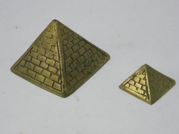 Vintage Brass Pyramids